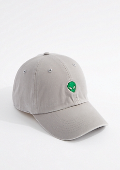 Medium Gray Alien Dad Hat