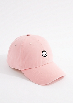 Light Pink Panda Dad Hat