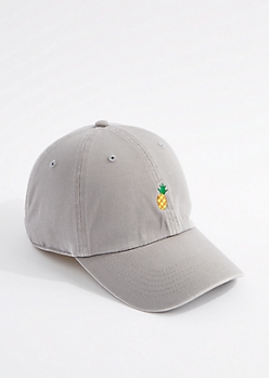 Gray Pineapple Dad Hat