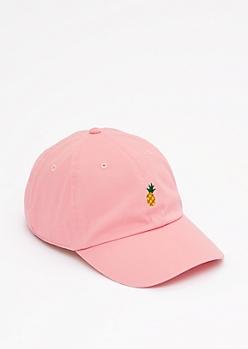 Pink Pineapple Baseball Hat