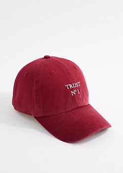 Burgundy Trust No 1 Dad Hat