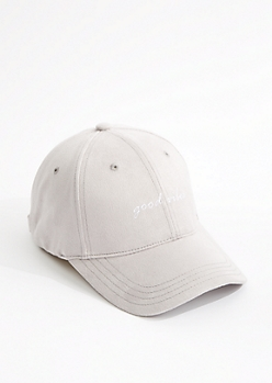 Good Vibes Suede Baseball Hat