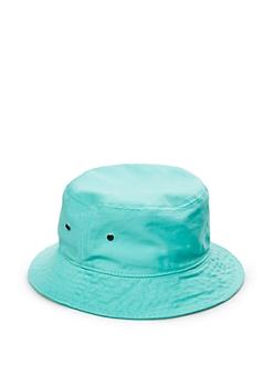 Light Green Grommeted Twill Bucket Hat