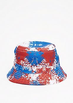 Americana Paint Splatter Bucket Hat