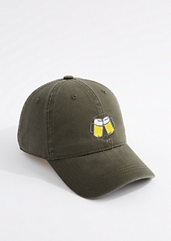 Dark Olive Beer Mug Dad Hat