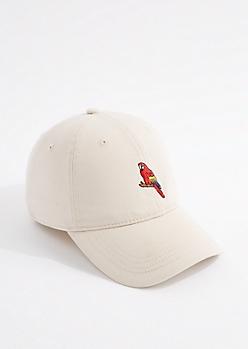 Khaki Parrot Dad Hat