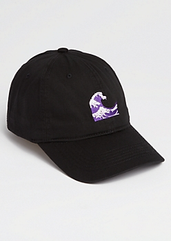 Purple Waves Dad Hat