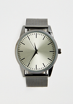 Stainless Steel Mesh Linked Watch