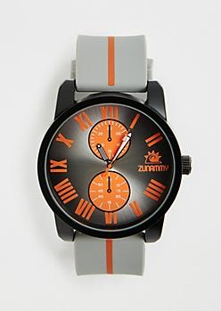 Orange Pop Rubberized Chrono Watch