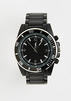 Black Coated Sports Dial Watch