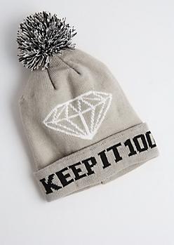 Keep It 100 Pom-Pom Beanie
