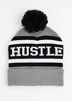 Hustle Pom Cuffed Beanie