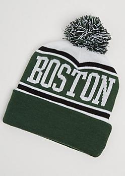 Boston Pom Beanie