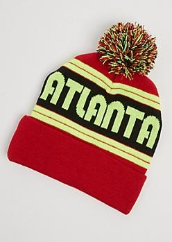 Atlanta Neon Pom Beanie