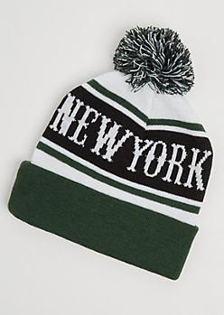 New York Pom Beanie
