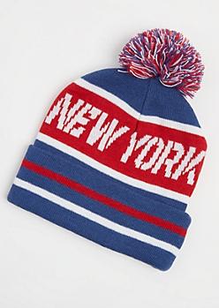 Americana New York Pom Beanie