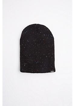 Black Speckled Knit Beanie