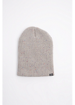 Gray Speckled Knit Beanie