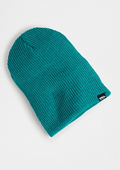 Teal Ribbed Knit Beanie
