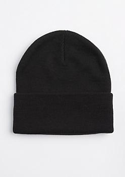Black Folded Beanie