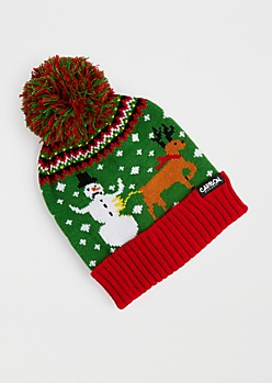 Reindeer's Revenge Ugly Holiday Beanie