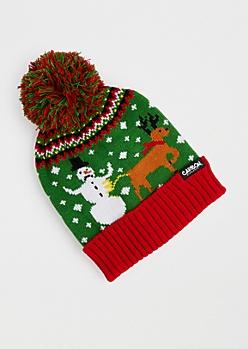 Reindeer's Revenge Ugly Holiday Beanie