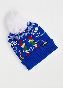 Naughty Elf Ugly Holiday Beanie
