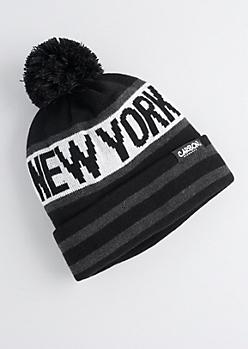 New York Pom-Pom Beanie
