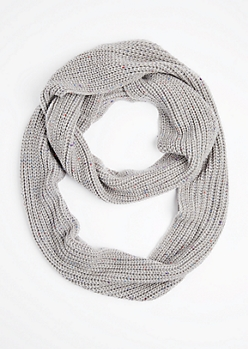 Gray Speckled Infinity Scarf