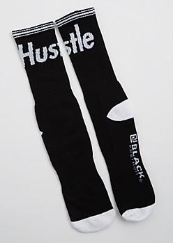 Hustle Striped Crew Socks