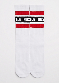 Striped Hustle Crew Socks