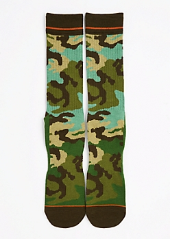 CJ Black Camo Crew Socks