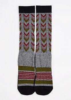 Arrow Stripe Tall Crew Socks
