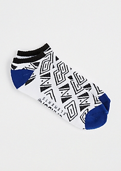 Geo Tribal No-Show Socks