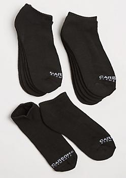 6-Pack Black Sneaker Socks