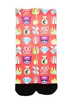 Get Rich Emoji Crew Socks