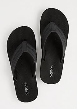 Black Waving Flip Flops