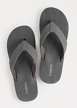 Charcoal Waving Flip Flops