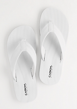 White Waving Flip Flops