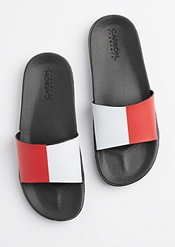 Color Split Slide Sandal