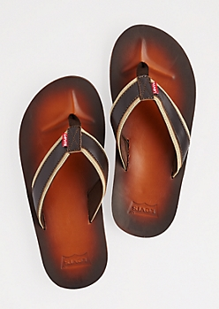 Brown Sandals By Levi