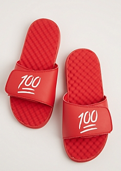 100 Textured Footbed Slide Sandal