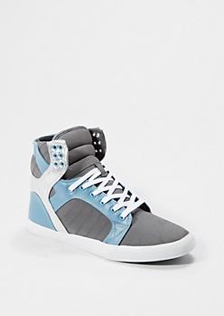 Metallic Gray High Top Sneaker