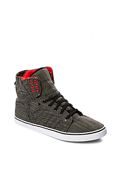 Black Tweed High Top Sneaker