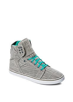 Charcoal Grey Tweed High Top Sneaker