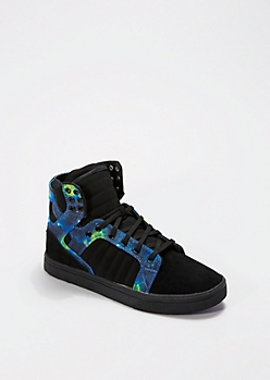 Multi Trapunto High Top Sneaker
