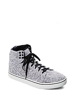 White Trapunto High Top Sneaker
