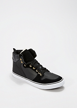 Metallic Trim High Top Sneaker