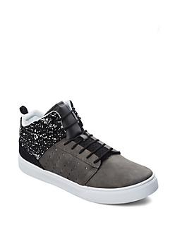 Black Speckled High Top Sneaker