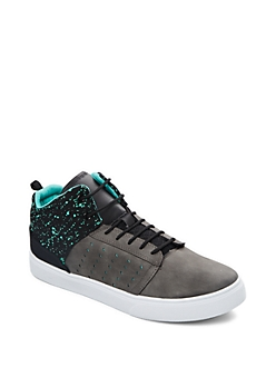 Light Green Speckled High Top Sneaker